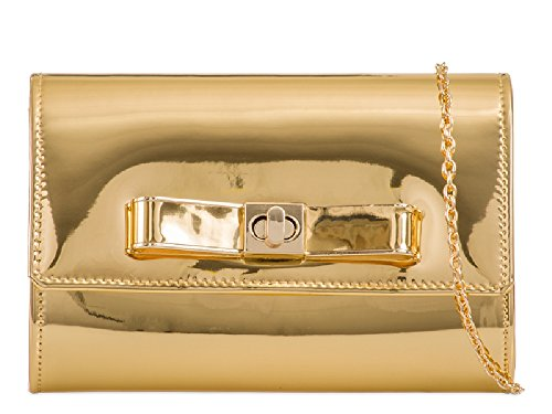Patent Women's Clutch Style Bow Designer Bag K963 Handbag Bag Ladies Gold Faux Purse Envelope EB4q4gw