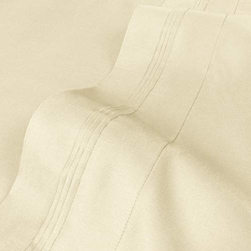 Blue Nile Mills 1500-Thread Count, 100% Egyptian Cotton, Soft and Durable, Pillowcase Set, Standard, Ivory, 2-Pieces from Blue Nile Mills