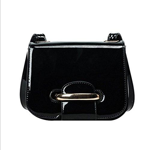 Moda Simple Señoras Pequeña Todo-fósforo Trabajo Compras Bolso De Hombro Inclinado Bolsas Black