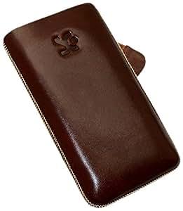 Suncase - Funda de cuero para HTC Incredible S, color marrón