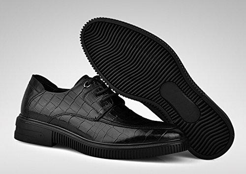 Happyshop (tm) Mens Ku Skinn Uformell Snøring Kjører Sko Komfort Slip-on Penny Loafers Forretnings Sko Svart