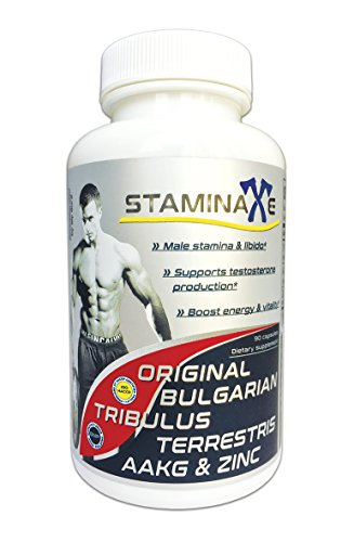 Staminaxe- Testosterone Booster. Male Enhancement Pills. Ultra Concentrated Bulgarian Tribulus Terrestris AAKG and Zinc