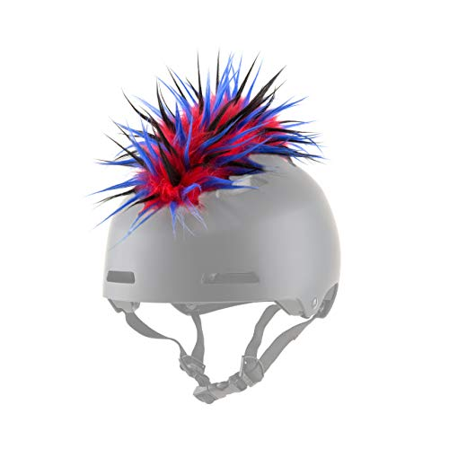 ParaWild Iguana Helmet Accessories w/Sticky Hook & Loop Fastener Adhesive (Helmet not Included), Fun HELMET MOHAWK/Cover for Snowboarding, Skiing, Biking, Cycling, Skating for Kids and (Best Kids Ski Helmets)