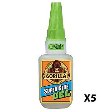 Gorilla 4044400 15g Superglue Gel - Clear Pack of 2