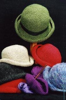 - Crocheted Crusher Hat - Ladies' - One Knitting Pattern (Directions also given for childs' and 18