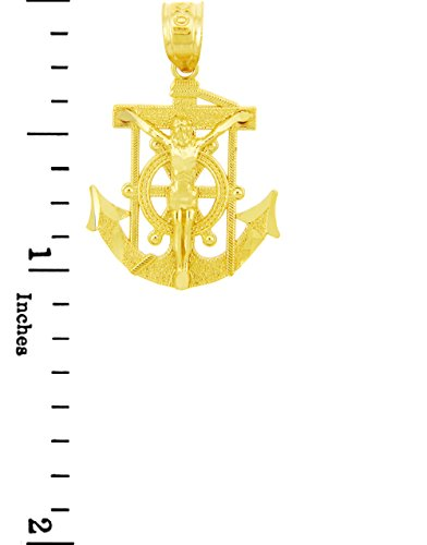 10 ct 471/1000 Religieux Charmes - La Ancre werfen Mariners-Croix-Or Pendentif