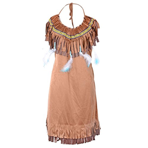 HUALIL American Princess Indian Maiden Costume Adult Halloween Fancy Dress ()