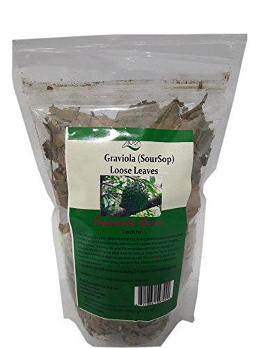 Zildek Nutrition Graviola (sour Sop) Loose Leaves tea 2 oz - All Natural organically grown package in resealable pouch