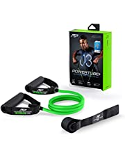 PTP PowerTube+ Resistance Tube with ICT Innovation and Door Anchor, Green, Medium