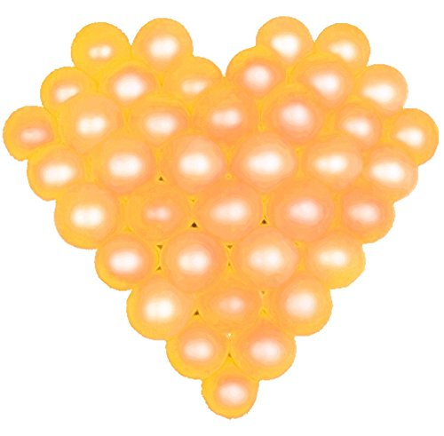 Gold Small Cut Out (Elecrainbow 5 Inch Gold Balloons, Round Pearl Balloon for Balloon Arch Modeling, Pack of 100)