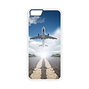 JFLIFE Airplane Phone Case for iphone6 Plus White Shell Phone [Pattern-1]