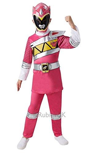 POWER RANGERS ~ Deluxe Pink Ranger (Dino Charge) - Kids Costume 5 - 6 (Power Rangers Costume Uk)