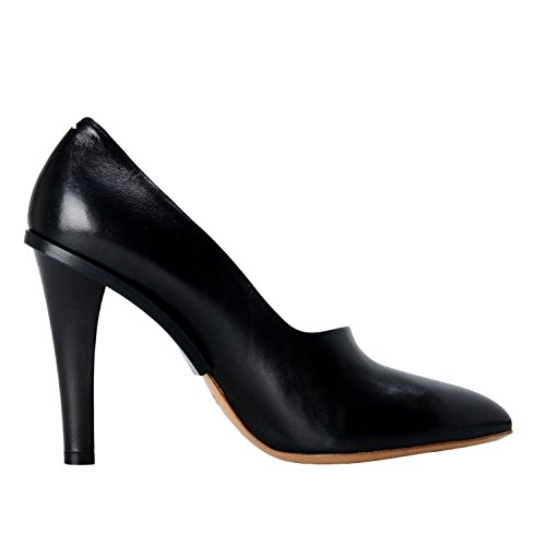 Maison Margiela 22 Dames Zwart Lederen Hoge Hak Pumps Schoenen Us 9 It 39