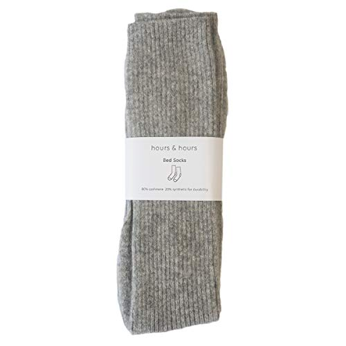 Cashmere Bed Socks for Women (Light Grey)