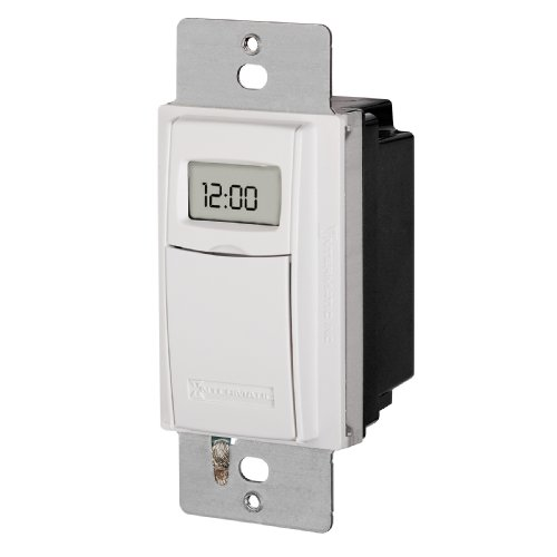 Switch Automatic Timer (Intermatic ST01 7 Day Programmable In Wall Digital Timer Switch for Lights and Appliances, Astronomic, Self Adjusting, Heavy Duty)