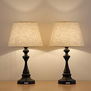Haitral End Table Lamps Set Of 2 Contemporary Nightstand