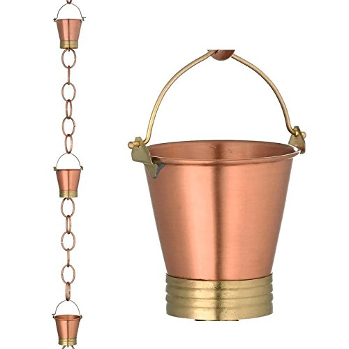 Good Directions Pails Rain Chain, Brushed Copper