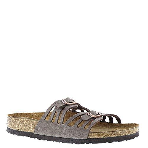 Birkenstock Womens Granada Sandal Mocha Birkibuc Size 40 EU (7-7.5 N US Men/9-9.5 N US Women)