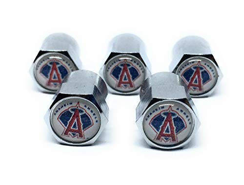 Buycleverly Anahein Angels Metal Tire Valve Stem Caps Set / 5 Pcs for Cars Sedan SUVs Compacts Luxury Pickups Truck Motorcycles