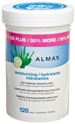 Almay Moisturizing Eye Makeup Remover Pads, 120 Pads