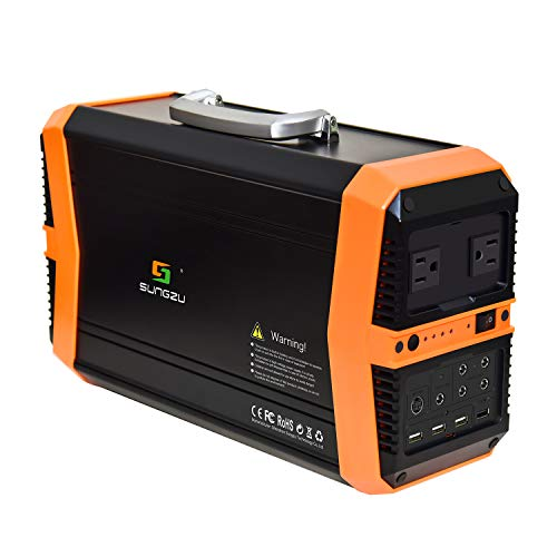 KMASHI Portable Power Station, SUNGZU Portable Generator 550Wh Emergency Backup Lithium Battery, 110V/500W AC Outlet, Solar Generator for Home Outdoors Camping Travel Uncategorized