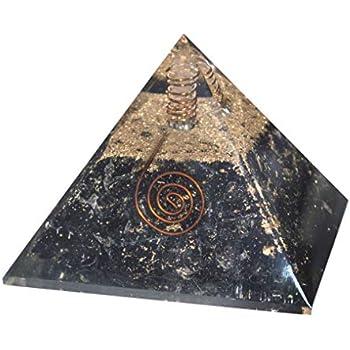 ZAICUS Black Tourmaline Crystal Pyramid for Good Luck Gemstone Chakra Balancing Feng Shui Reiki Healing Energy Generator EMF Protection Aura Cleansing Spiritual Gift Office Home Decor Size 2-2.5 inch
