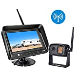 Cheap Digital Wireless Backup Camera System Kit, IP69K Waterproof Wireless Rear View Camera + 7'' LCD Wireless Reversing Monitor for Trailer, RV, Bus, Trucks, Horse-trailer, School Bus, Farm Machine,etc