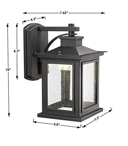 Bestshared Outdoor Wall Mount Led Lights Led Lantern In Black Finish 9w Led 3000k Warm White Blinkee Com