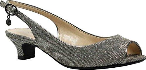 cheap sale brand new unisex buy cheap genuine J.Renee Women's Jenvey Low Heel Slingback Pewter 7Wwe902pk