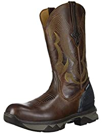 "Men's Performance Molded 12"" Pull ON: Nano Composite Toe Construction Boot, Hickory, 11 Medium Wide US"