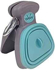MonPtit Pooper Scooper, portable sanitary dog waste pick up with bag dispenser, in two sizes for large medium small dog cat or pet, durable poop cleaner, easy to use, comfortable grip, one-handed cleanups on all surfaces, healthy and convenient