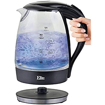 Amazon Com Farberware Electric Glass Kettle Kitchen Amp Dining