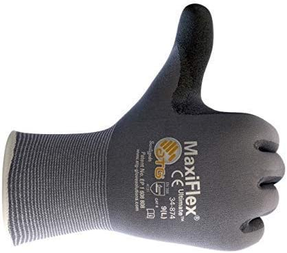 3 Pack MaxiFlex 34-874 Gloves Nitrile Micro-Foam Grip Palm /& Fingers Size-XXS//3 Pairs Excellent Grip and Abrasion Resistance