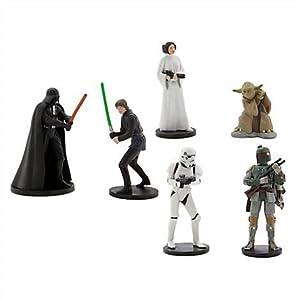 Star Wars Figure Playset - Includes - Darth Vader, Luke Skywalker, Princess Leia, Yoda, Boba Fett and Stormtrooper - 41Sbz1lEmpL - Star Wars Figure Playset – Includes – Darth Vader, Luke Skywalker, Princess Leia, Yoda, Boba Fett and Stormtrooper
