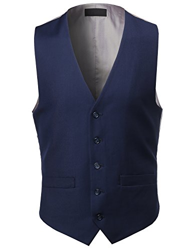 Contemporary Classic Fit Stylish Contras - Navy Blue Dress Vest Shopping Results