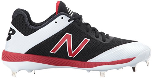 New Balance Herren L4040v4 Metall Baseball-Schuh Schwarz Rot