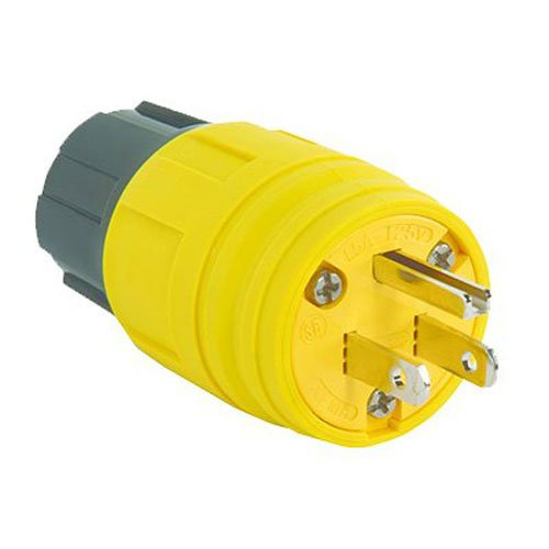 Legrand - Pass & Seymour PS14W47CCV3 Straight Blade Watertight Plug 15-Amp/125 Heavy Duty Construction Built to Last