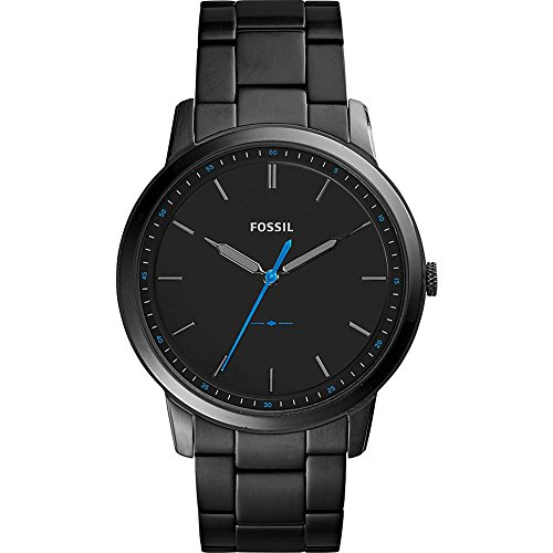 Fossil Men's FS5308 The Minimalist Three-Hand Black Stainless Steel Watch by Fossil
