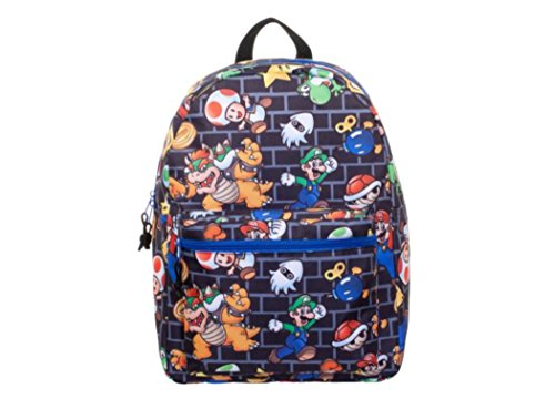 - Super Mario All-Over Comic Print 16 Backpack