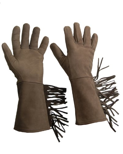 Glove Guys Leather Fringed Gauntlet (Espresso, (Fringed Gauntlet)