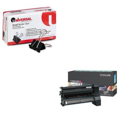 KITLEXC780H1MGUNV10200 - Value Kit - Lexmark C780H1MG High-Yield Toner (LEXC780H1MG) and Universal Small Binder Clips (UNV10200) -