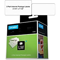 Dymo 30384 2-Part Internet Postage - Labels - black on white - 2.25 in x 7.5 in 150 label(s) ( 1 roll(s) x 150 ) - for DYMO Desktop Mailing Solution Twin Turbo LabelWriter & Scale, DYMO LabelWriter 330