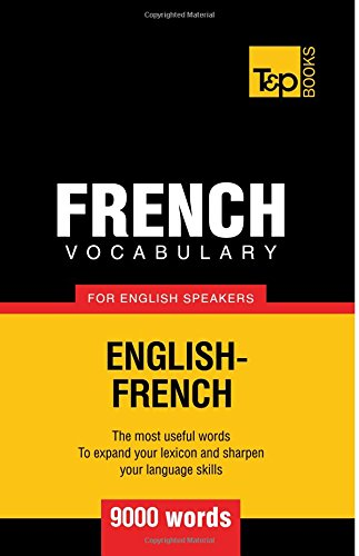 French vocabulary English speakers words
