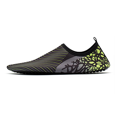 XINYI Aqua playa nadar zapatos de agua de secado rápido Slip On Piel Zapatos de Yoga calcetines para Unisex, tela, A14, XL39-40 A18