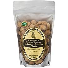 Premium Macadamias, Pineapple & Toasted Coconut, Half Pound Bag, Made in Hawaii