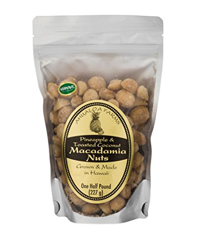 Premium Macadamias, Pineapple & Toasted Coconut, Half Pound Bag, Made in Hawaii ()