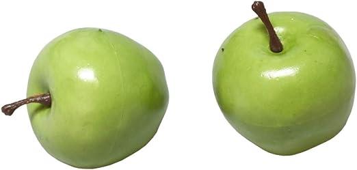 HUWI Manzana Decorativa con Mango, Verde, 6 Unidades, plástico irreal, Manzana, decoración de Mesa, diseño de Flores: Amazon.es: Juguetes y juegos