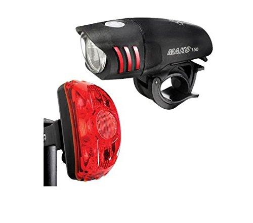 NiteRider Mako 150 LED Headlight and CherryBomb 0.5 Watt Tail Light For Sale