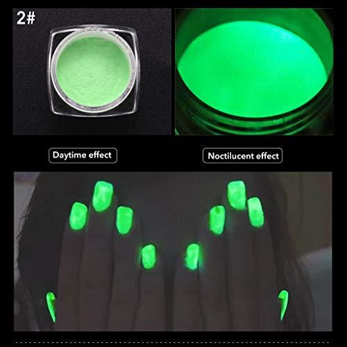 (NAYI Neon Pigment Nail Powder Dust Nail Glitter Gradient Glitter Iridescent Acrylic)