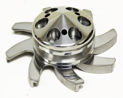 CHEVY/GM ALUMINUM ALTERNATOR FAN & PULLEY SET (1 GROOVE) - POLISHED (Pulley Chevy Aluminum)